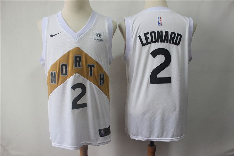 Men Toronto Raptors 2 Leonard White City Edition Game Nike NBA Jerseys