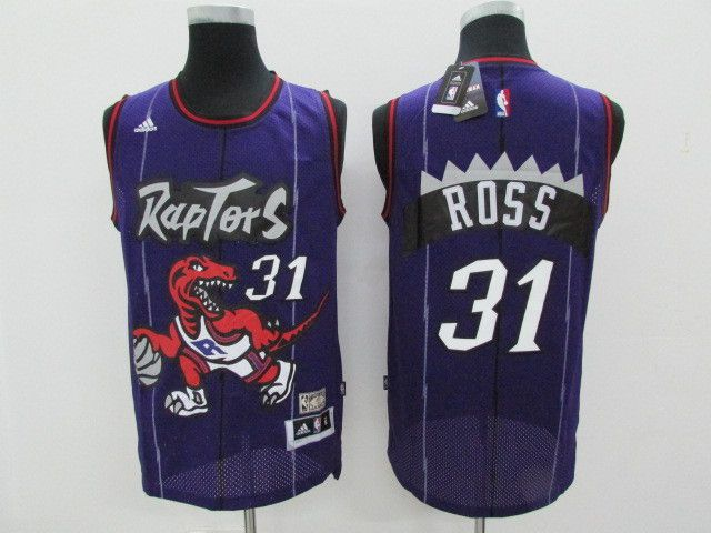 Men Toronto Raptors 31 Ross Purple Throwback NBA Jerseys