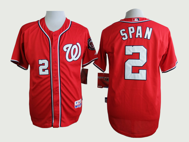 Men Washington Nationals 2 Span Red MLB Jerseys