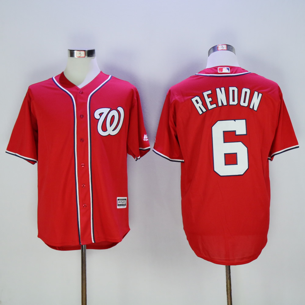 Men Washington Nationals 6 Rendon Red MLB Jerseys