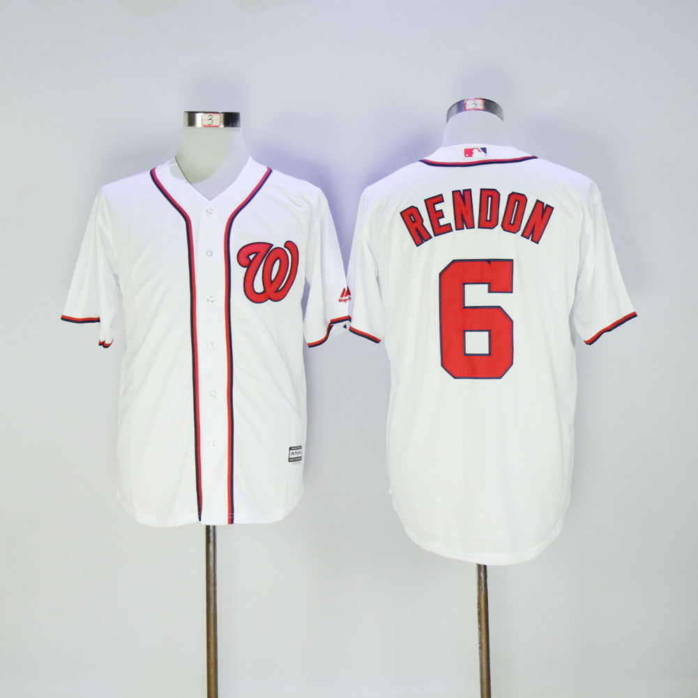 Men Washington Nationals 6 Rendon White MLB Jerseys