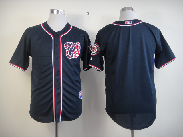 Men Washington Nationals Blank Blue MLB Jerseys