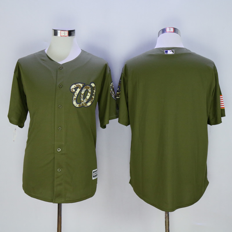 Men Washington Nationals Blank Green MLB Jerseys
