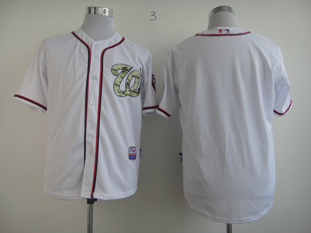 Men Washington Nationals Blank White Camo MLB Jerseys