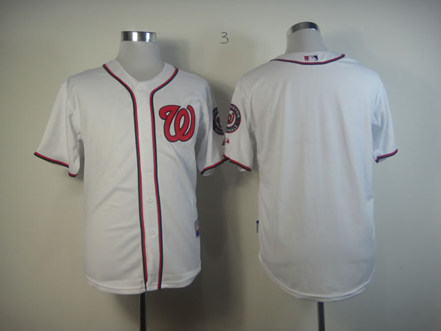 Men Washington Nationals Blank White MLB Jerseys