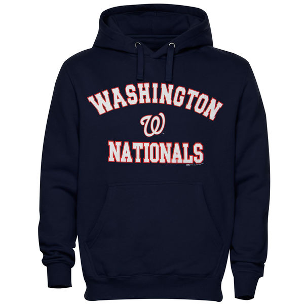 Men Washington Nationals Stitches Fastball Fleece Pullover Hoodie Navy Blue