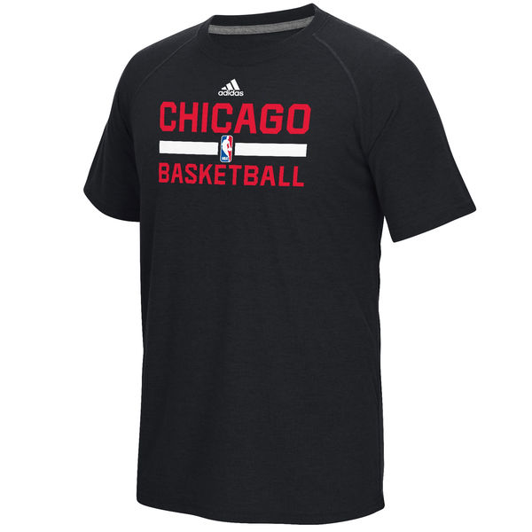 NBA Men Chicago Bulls adidas OnCourt Climalite Ultimate TShirt Black