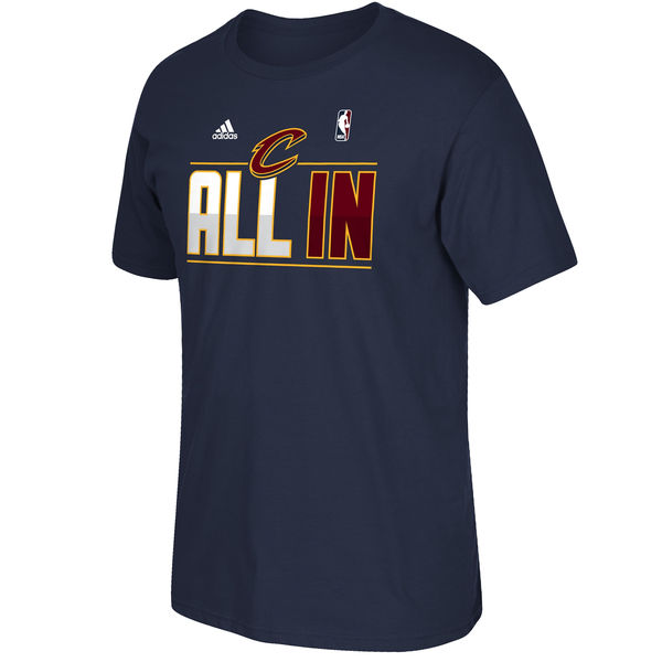 NBA Men Cleveland Cavaliers adidas 2015 Playoffs Slogan TShirt Navy