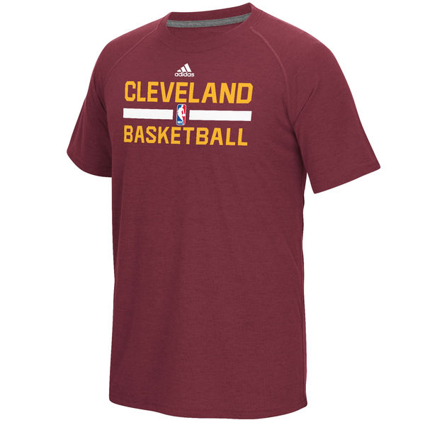 NBA Men Cleveland Cavaliers adidas OnCourt Climalite Ultimate TShirt Burgundy