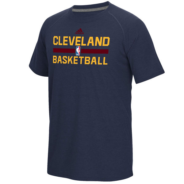 NBA Men Cleveland Cavaliers adidas OnCourt Climalite Ultimate TShirt Navy