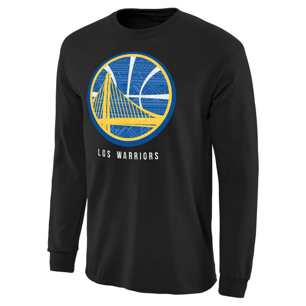 NBA Men Golden State Warriors Noches Enebea Long Sleeve TShirt Black