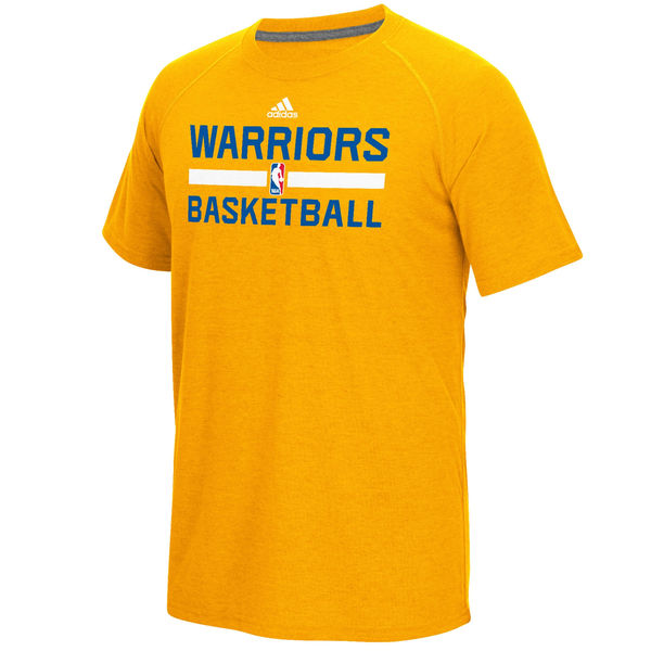 NBA Men Golden State Warriors adidas OnCourt Climalite Ultimate TShirt Gold