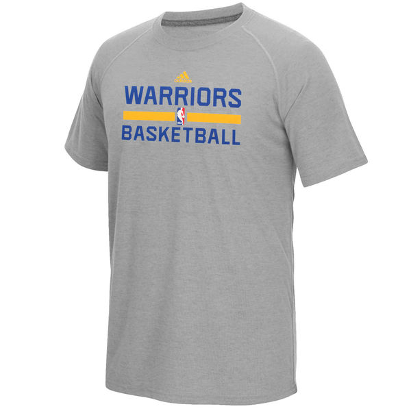 NBA Men Golden State Warriors adidas OnCourt climalite Ultimate TShirt Gray