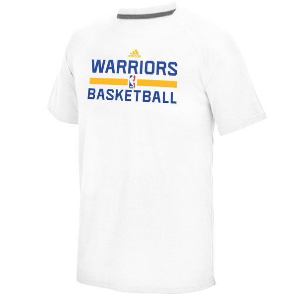 NBA Men Golden State Warriors adidas OnCourt climalite Ultimate TShirt White