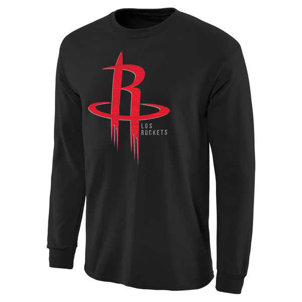 NBA Men Houston Rockets Noches Enebea Long Sleeve TShirt Black