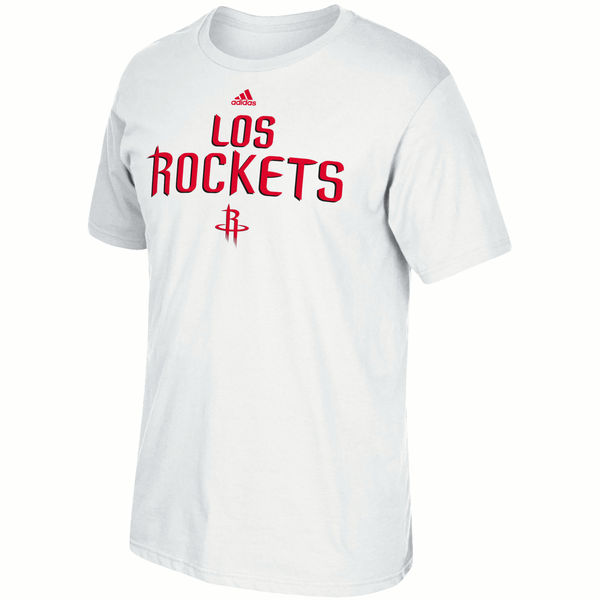 NBA Men Houston Rockets adidas Noches EneBeA TShirt White