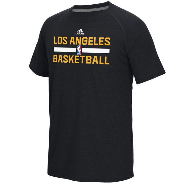 NBA Men Los Angeles Lakers adidas OnCourt Climalite Ultimate TShirt Black