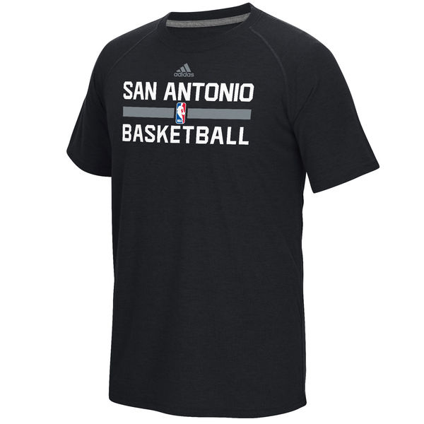 NBA Men San Antonio Spurs adidas OnCourt Climalite Ultimate TShirt Black