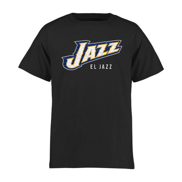 NBA Men Utah Jazz Youth Noches Enebea TShirt Black