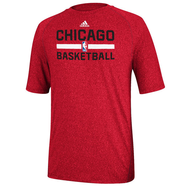 NBA Men adidas Chicago Bulls Red Practice Performance TShirt