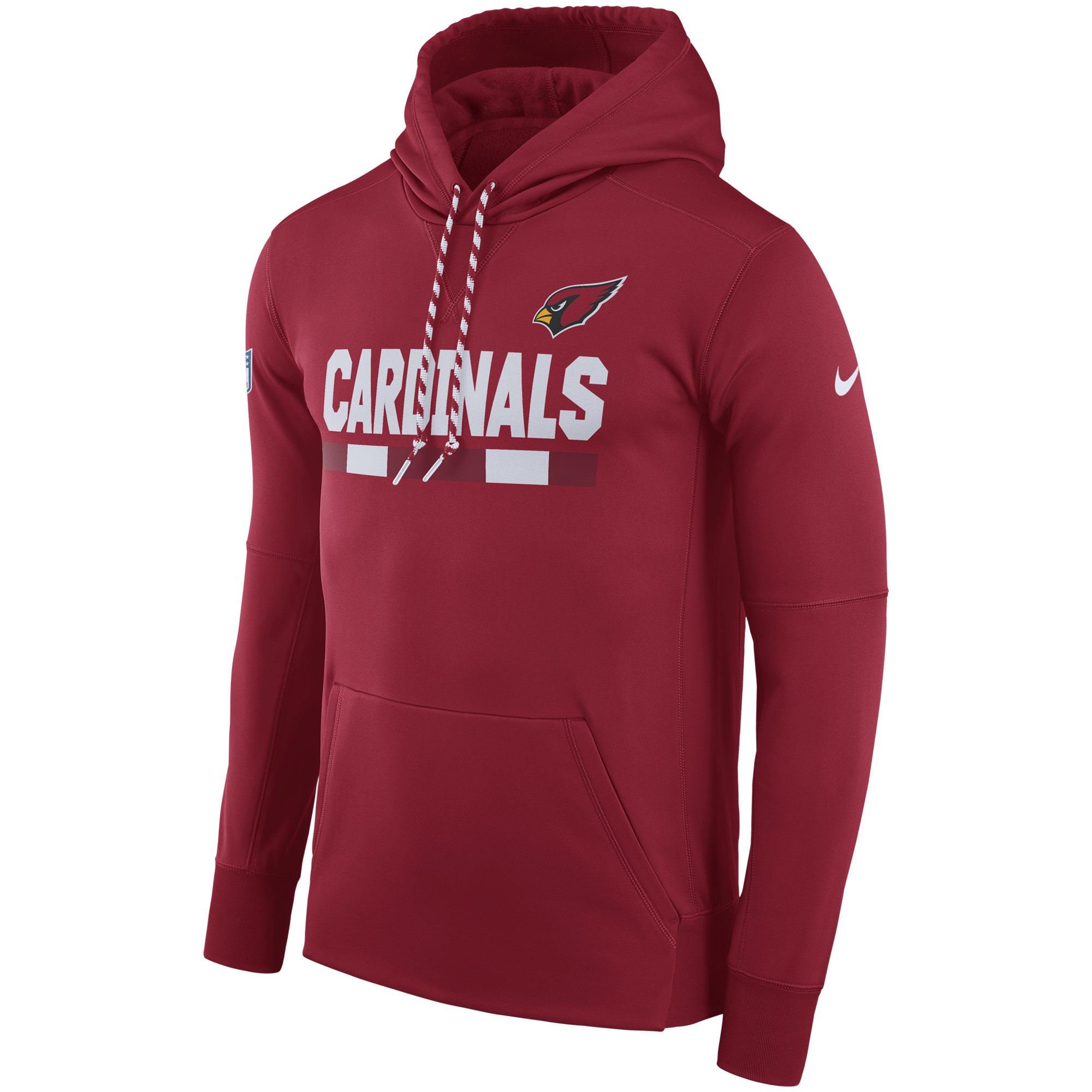NFL Men Arizona Cardinals Nike Cardinal Sideline ThermaFit Performance PO Hoodie