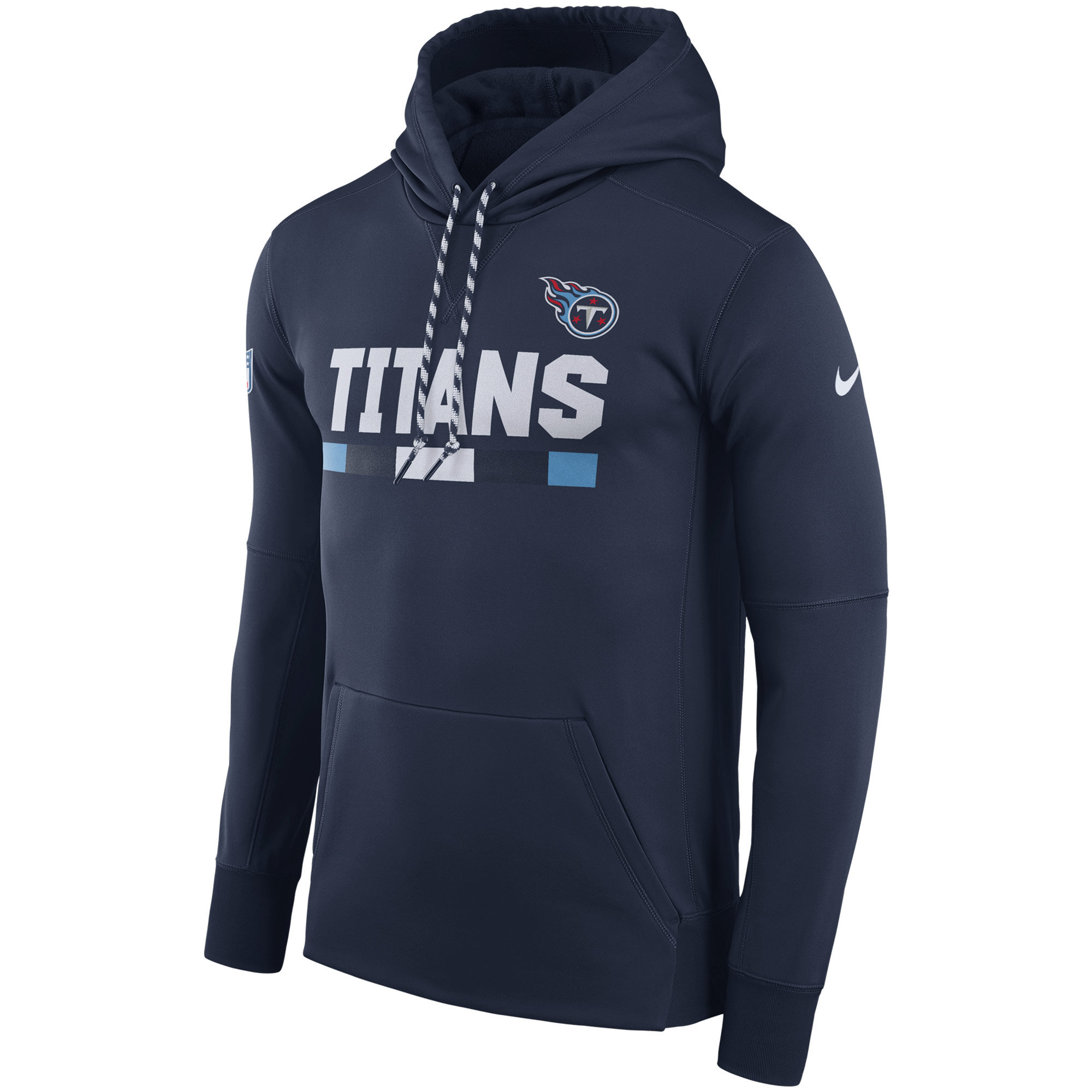 NFL Men Tennessee Titans Nike Navy Sideline ThermaFit Performance PO Hoodie