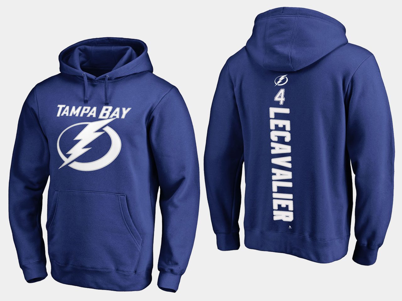 NHL Men adidas Tampa Bay Lightning 4 Lecavalier blue hoodie