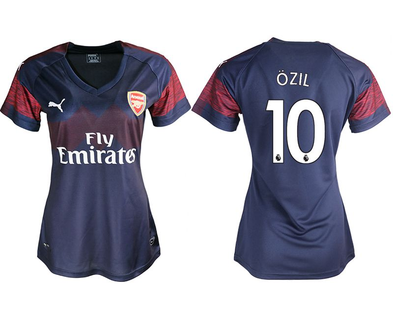 Women 2018-2019 club Arsenal away aaa version 10 blue soccer jerseys