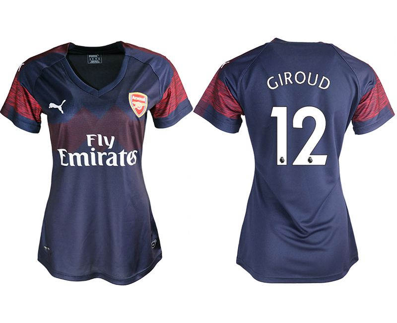Women 2018-2019 club Arsenal away aaa version 12 blue soccer jerseys
