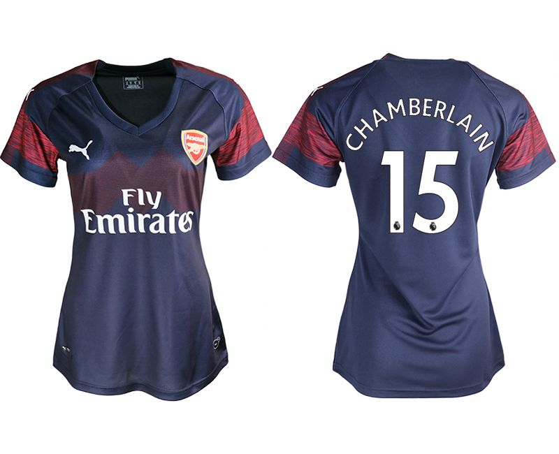 Women 2018-2019 club Arsenal away aaa version 15 blue soccer jerseys