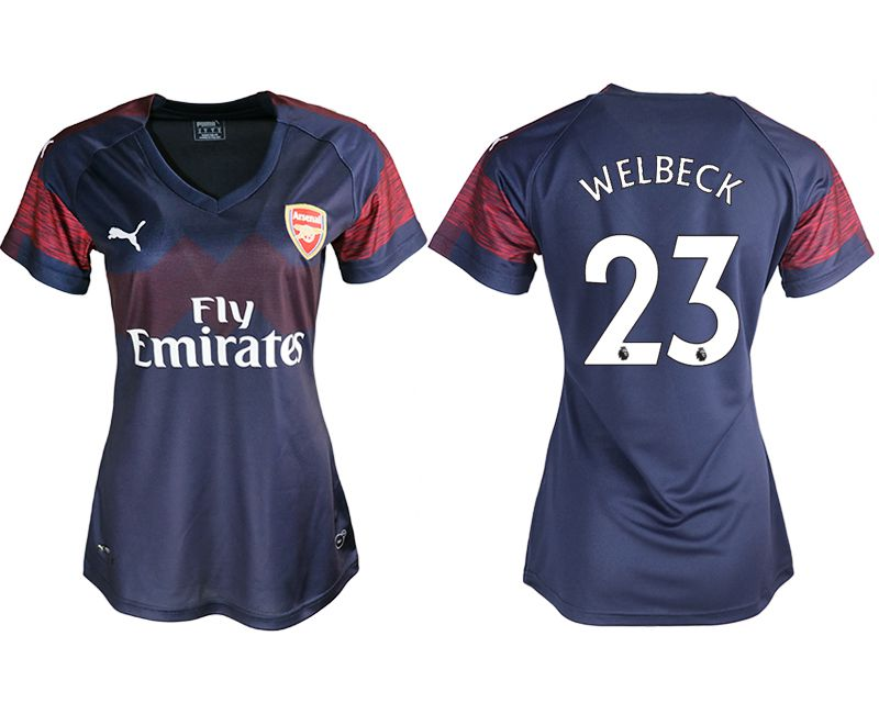 Women 2018-2019 club Arsenal away aaa version 23 blue soccer jerseys