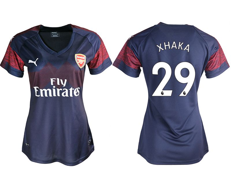 Women 2018-2019 club Arsenal away aaa version 29 blue soccer jerseys