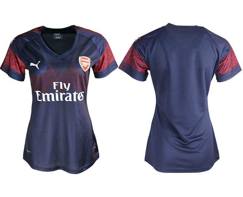 Women 2018-2019 club Arsenal away aaa version blue soccer jerseys