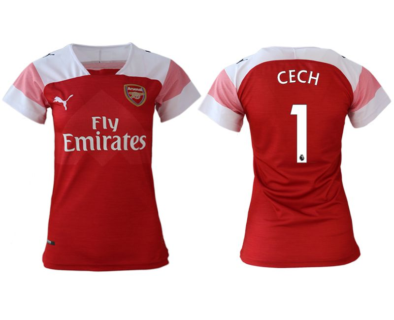 Women 2018-2019 club Arsenal home aaa version 1 red soccer jerseys