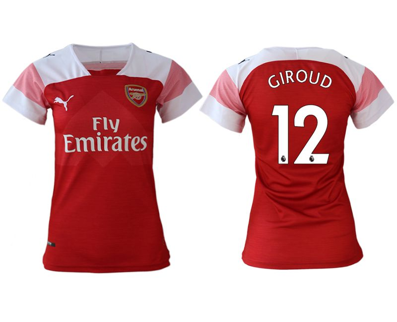 Women 2018-2019 club Arsenal home aaa version 12 red soccer jerseys