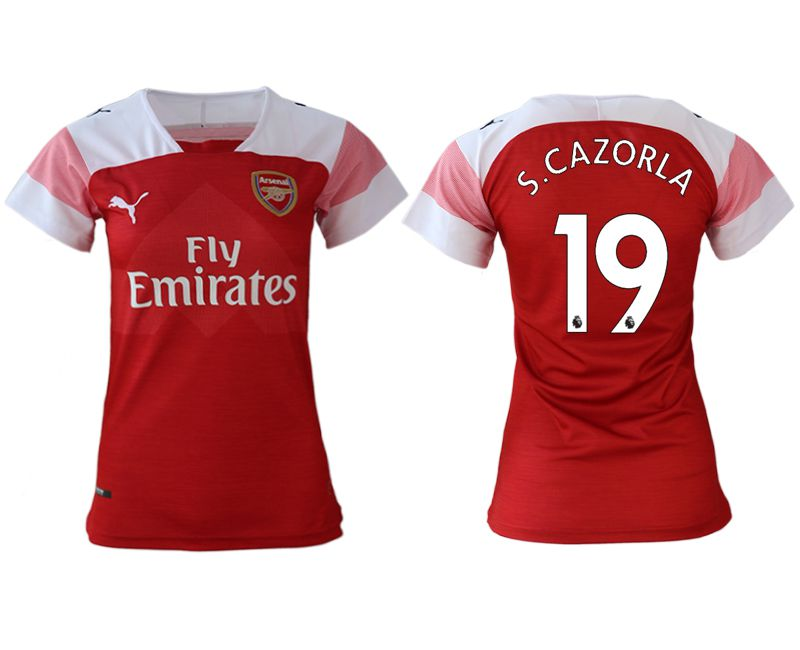 Women 2018-2019 club Arsenal home aaa version 19 red soccer jerseys