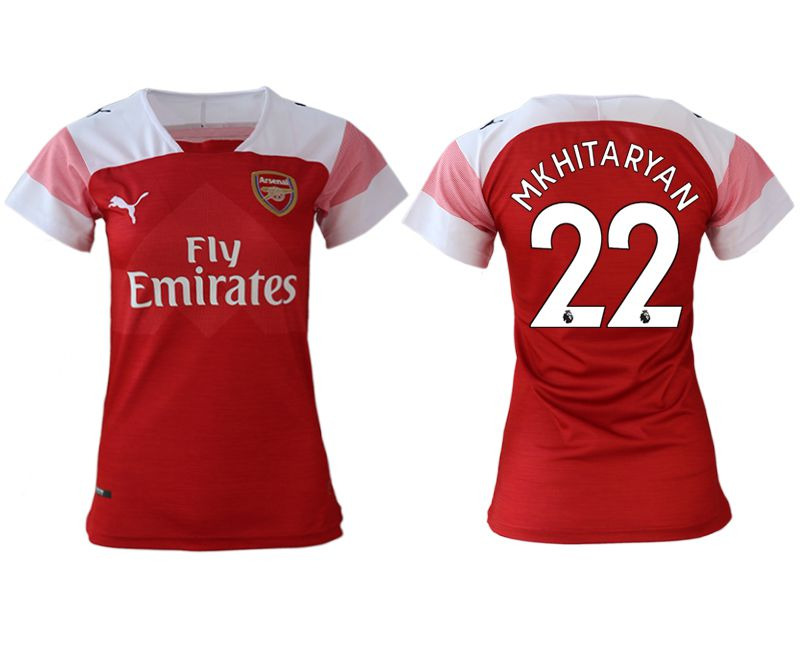 Women 2018-2019 club Arsenal home aaa version 22 red soccer jerseys