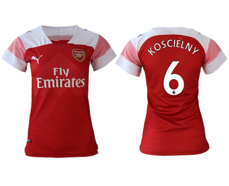 Women 2018-2019 club Arsenal home aaa version 6 red soccer jerseys
