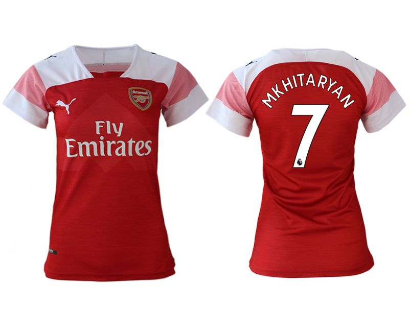 Women 2018-2019 club Arsenal home aaa version 7 red soccer jerseys