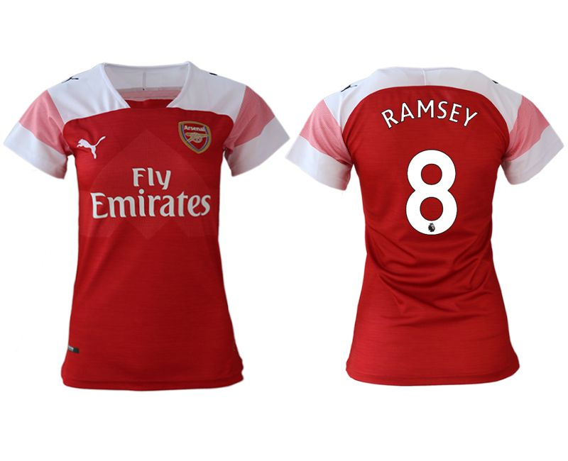 Women 2018-2019 club Arsenal home aaa version 8 red soccer jerseys