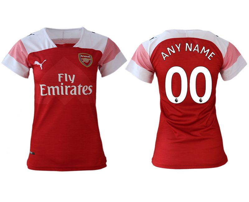 Women 2018-2019 club Arsenal home aaa version customized red soccer jerseys