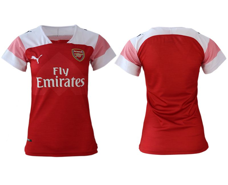 Women 2018-2019 club Arsenal home aaa version red soccer jerseys