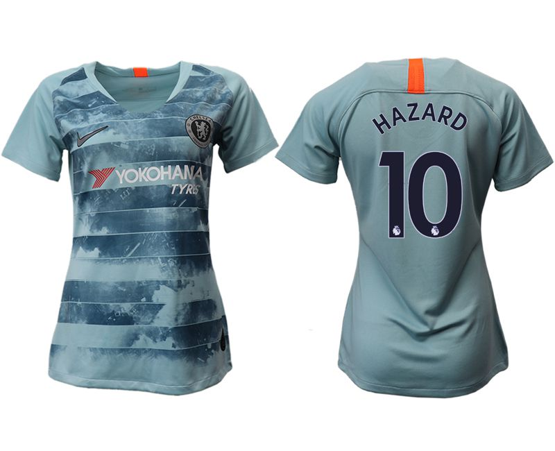 Women 2018-2019 club Chelsea Second away aaa version 10 blue soccer jersey