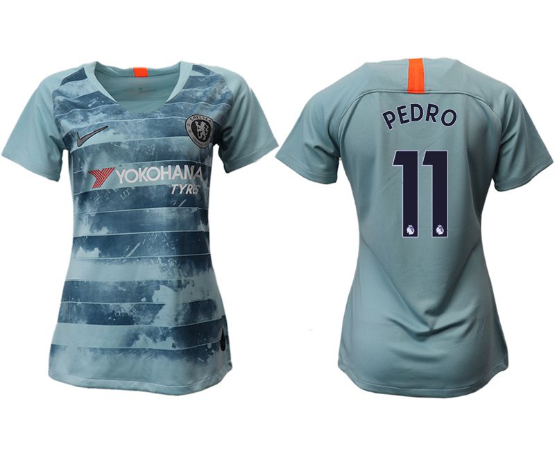 Women 2018-2019 club Chelsea Second away aaa version 11 blue soccer jersey