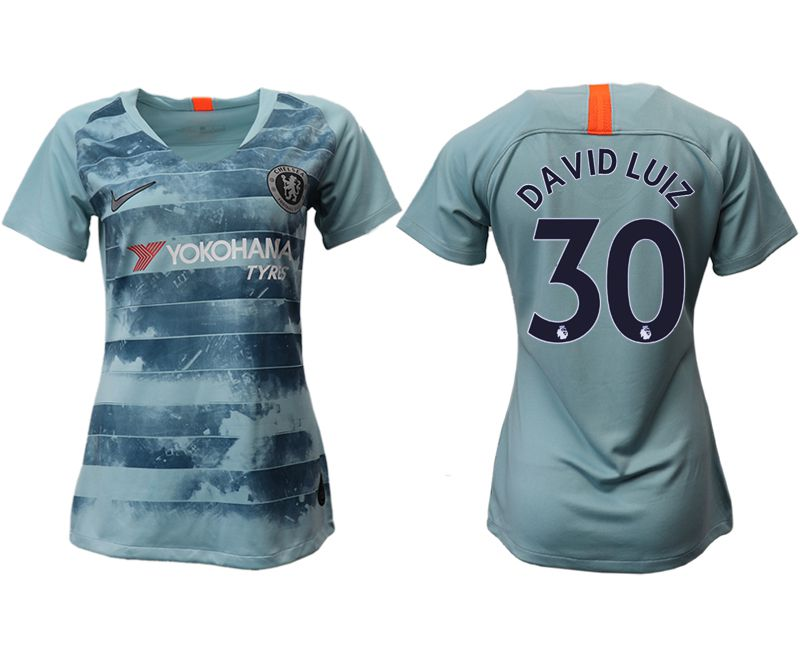 Women 2018-2019 club Chelsea Second away aaa version 30 blue soccer jersey