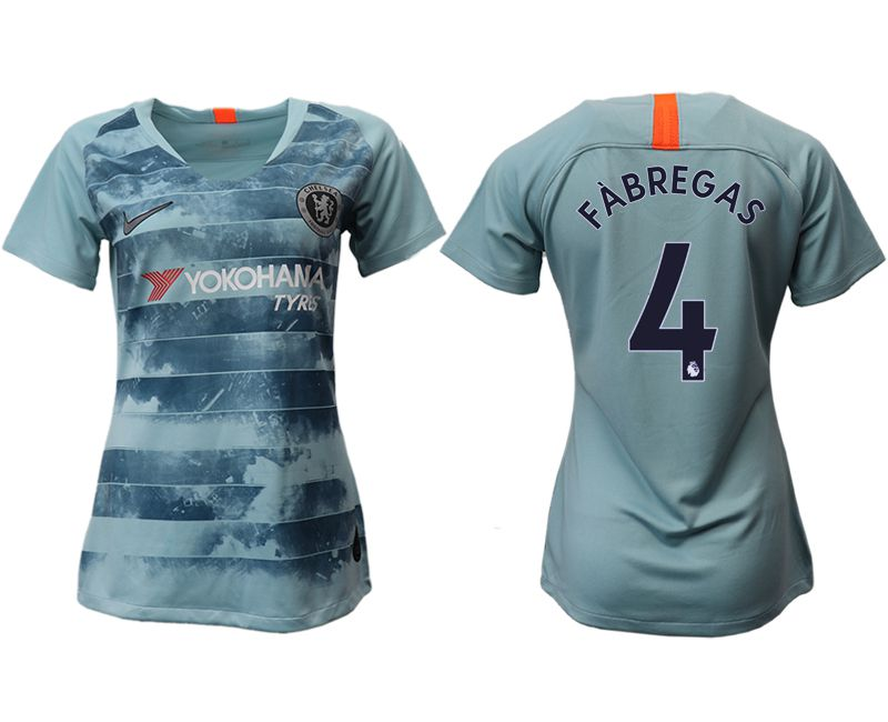 Women 2018-2019 club Chelsea Second away aaa version 4 blue soccer jersey