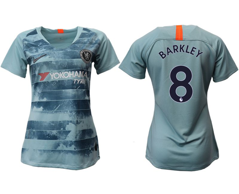 Women 2018-2019 club Chelsea Second away aaa version 8 blue soccer jersey