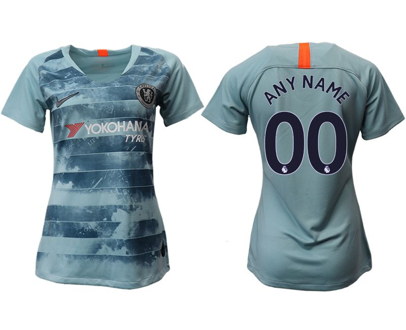 Women 2018-2019 club Chelsea Second away aaa version customized blue soccer jersey