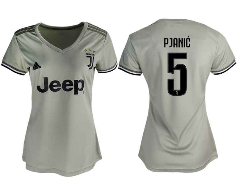 Women 2018-2019 club Juventus away aaa version 5 white soccer jerseys