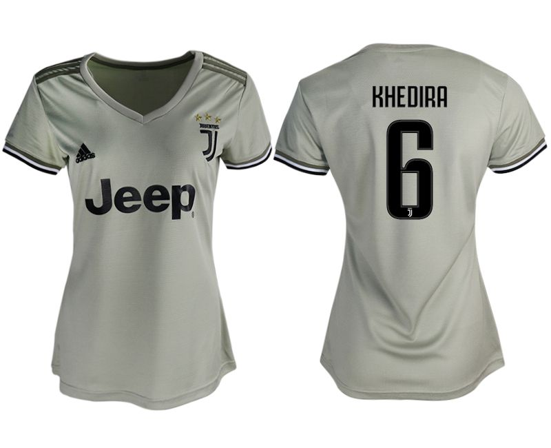 Women 2018-2019 club Juventus away aaa version 6 white soccer jerseys